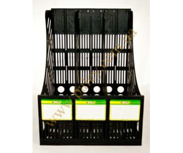 The tray 3 vertical black 4-403
