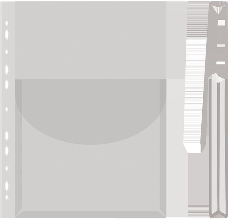 Файл для документов А4 глянцевый с клапаном, 170мкм SWSH