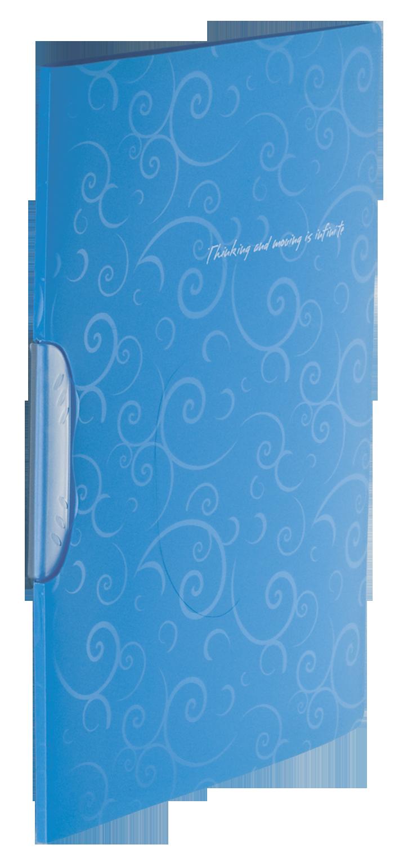 Скоросшиватель А4 с поворотным прижимом, BAROCCO, голубой