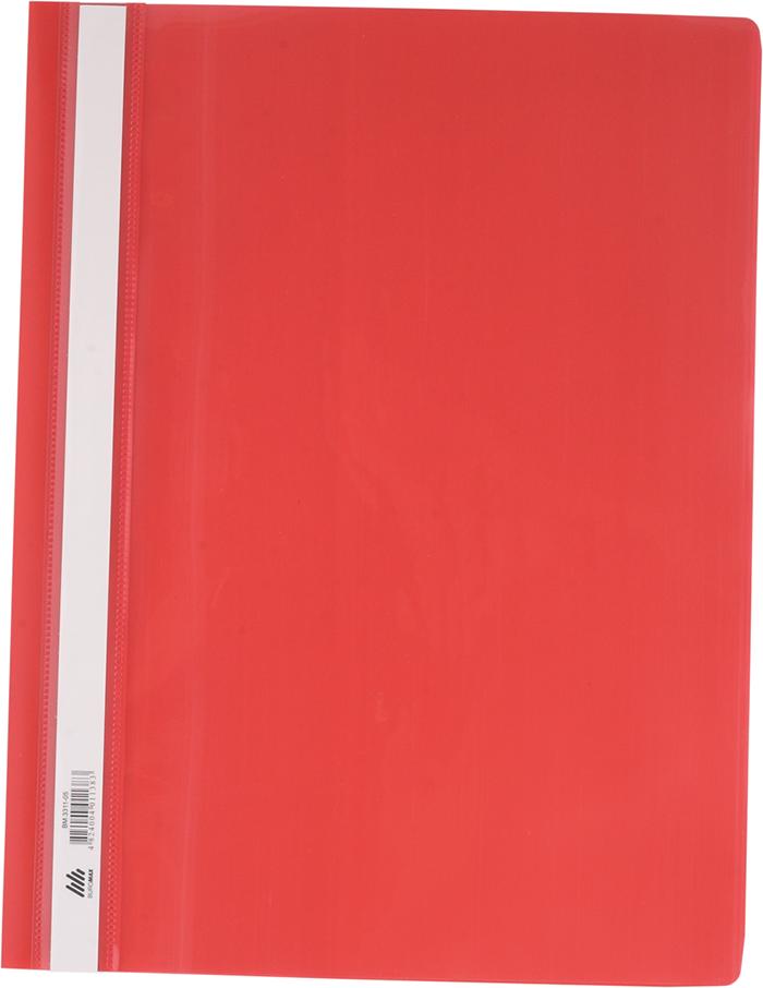 Швидкозшивач пластиковий А4, PP, червоний