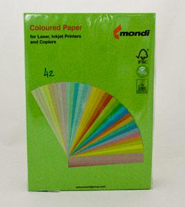 Бумага цветная А4 80 гр Маэстро 42 интенсив зеленый фото
