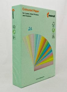 Папір кольоровий А4 80 гр Маестро 28 пастель зелена фото