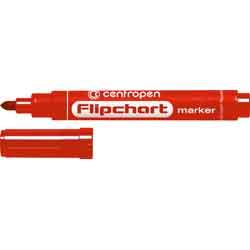 Купити Маркер Flipchart круглий 2,5 мм, червоний