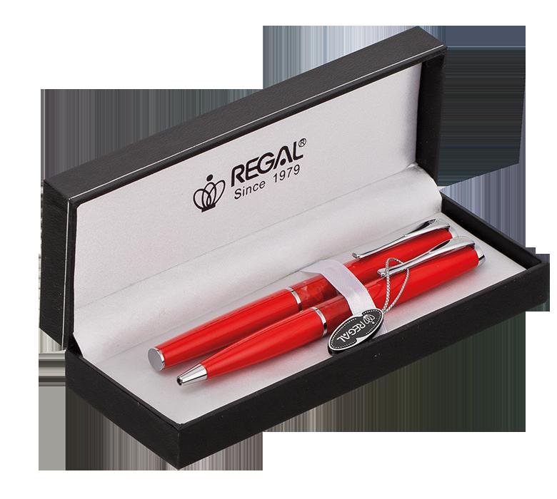 Комплект ручок в подарунковому футлярі L червоний