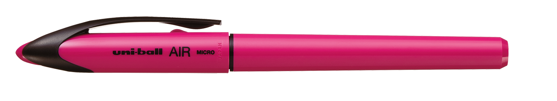 Купить Роллер uni AIR 0.5 мм, розовый корпус, синий
