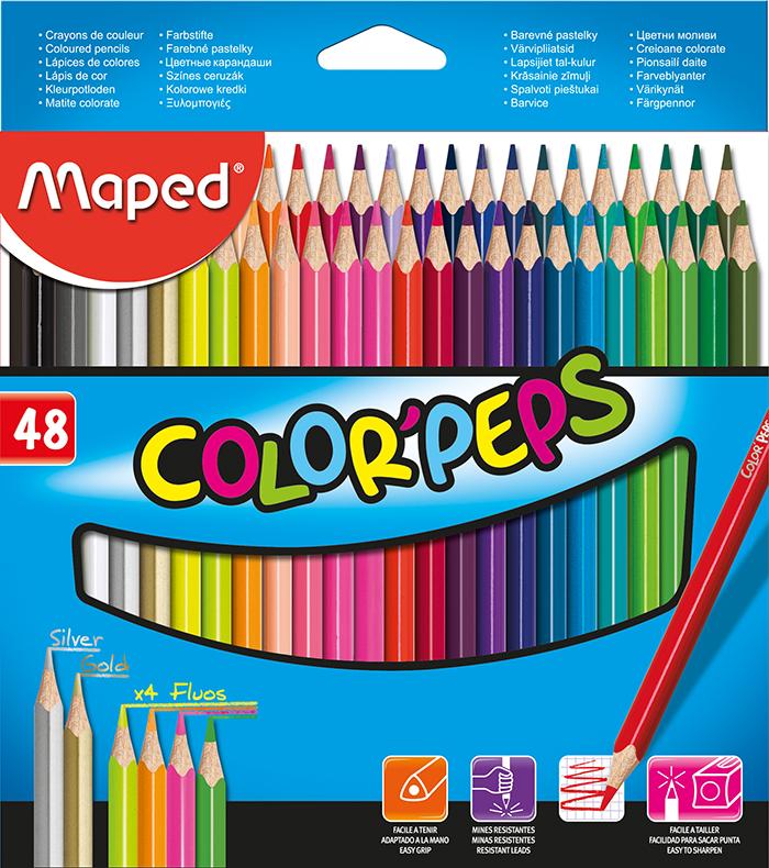 Карандаши цветные Maped COLOR PEPS Classic, 48 цветов